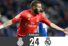 Real Madrid triunfa diante do Espanyol (2-4) e segura 3º lugar na La Liga