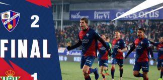 La Liga: Triunfo histórico do Huesca sobre o Real Bétis (2-1)