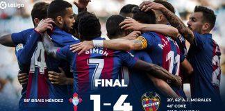 La Liga: Levante vence em Vigo e leva Miguel Cardoso ao desespero