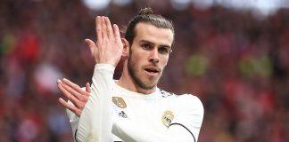 O manguito de Gareth Bale para os adeptos do Atlético de Madrid   FOTOGRAFIAS