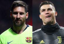 Messi com 50 hat-trick ameaça a marca de Cristiano Ronaldo (51)