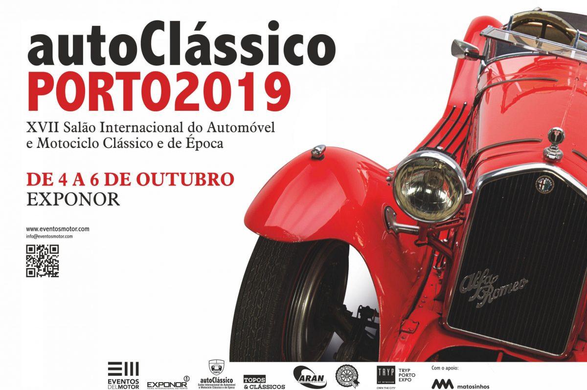 SALÃO AUTOCLÁSSICO PORTO de 4 a 6 de Outubro na Exponor