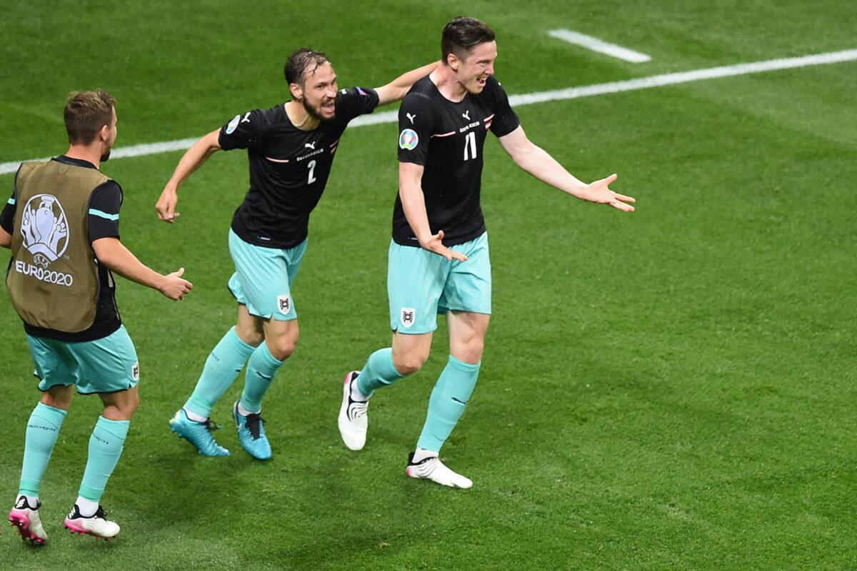 Áustria venceu a Macedónia do Norte por 2-1 na primeira jornada do Grupo C